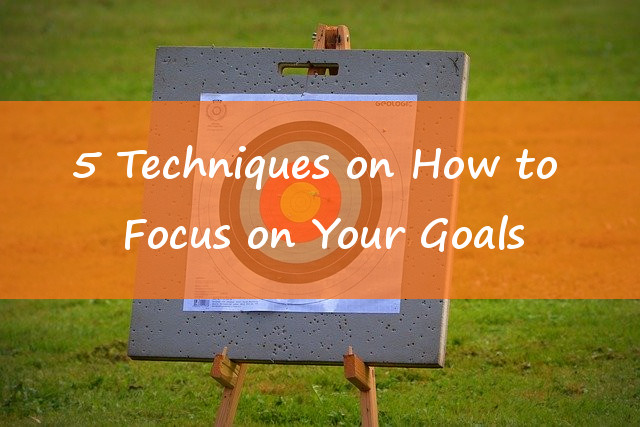5 Techniques On How To Focus On Your Goal